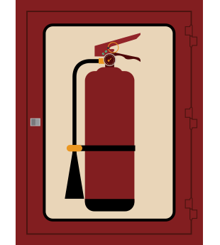 A fire extinguisher sign representing fire extinguisher inspection provider Apartment Fire Extinguisher Service, Inc. in Jacksonville, FL